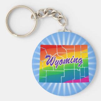 Rainbow State Of Wyoming Key Ring