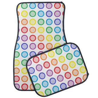Rainbow Static Circles Car Mat