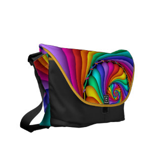 Rainbow Stitchery Gay Pride LGBT Messenger Bag
