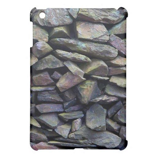 Rainbow Stone Wall iPad Mini Cover