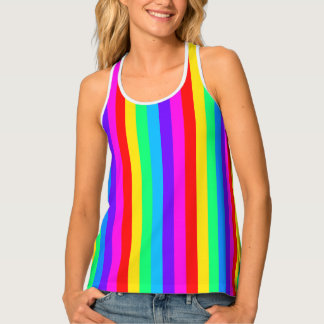 Rainbow Stripe Singlet