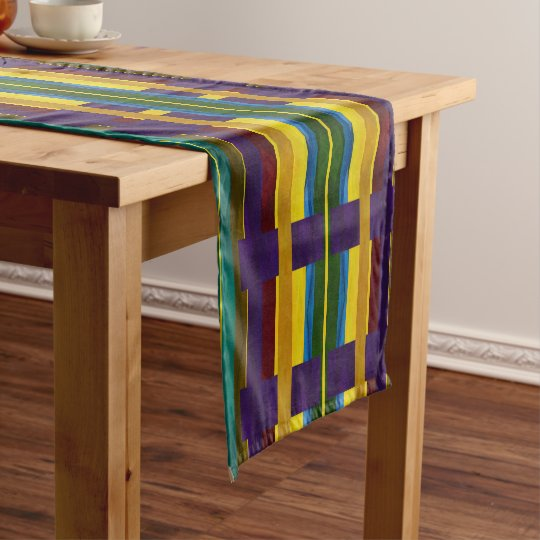 "Rainbow Striped - 14"" x 72"" Table Runner"