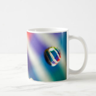Rainbow Striped Bubbles Coffee Mug