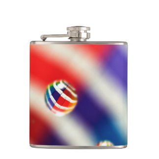Rainbow Striped Bubbles Flask