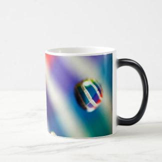 Rainbow Striped Bubbles Magic Mug