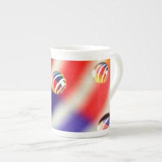 Rainbow Striped Bubbles Tea Cup