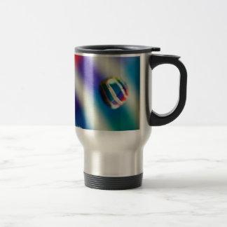 Rainbow Striped Bubbles Travel Mug