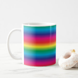 Rainbow Striped Coffee Mug
