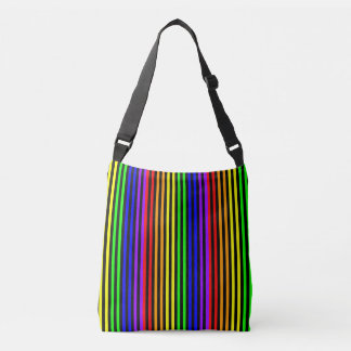 Rainbow Striped Crossbody Bag