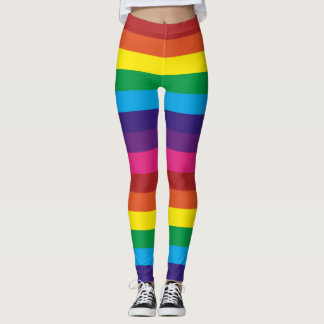 Rainbow Striped Leggings
