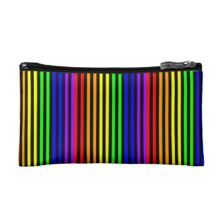 Rainbow Striped Makeup Bag