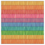 Rainbow Striped Pattern Fabric