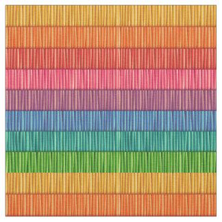 Rainbow Striped Pattern Fabric