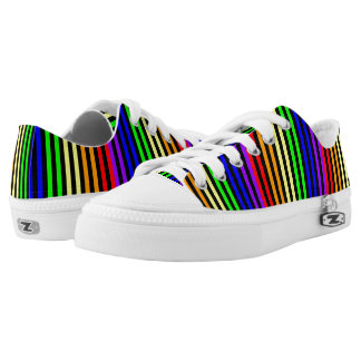 Rainbow Striped Printed Shoes