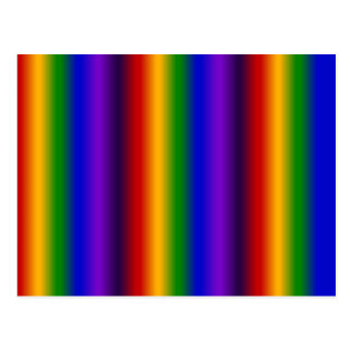 Rainbow Stripes Abstract Blur Colorful Gifts Postcard