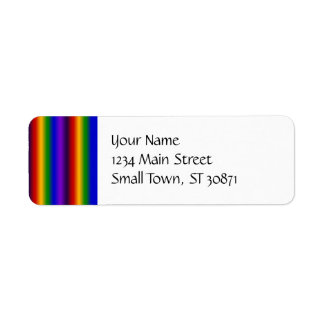 Rainbow Stripes Abstract Blur Colorful Gifts Return Address Label