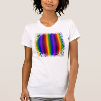 Rainbow Stripes Abstract Blur Colorful Gifts Tee Shirt