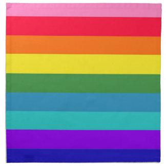 Rainbow Stripes American MoJo Napkin