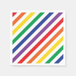 Rainbow Stripes Disposable Serviette