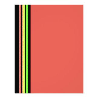 rainbow stripes flyer design