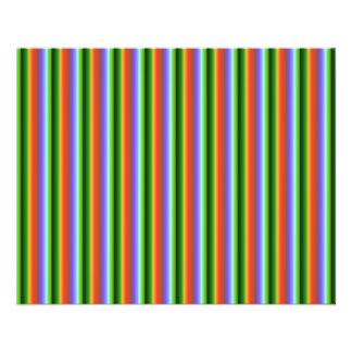 Rainbow Stripes. Fun Multi-color Pattern. Personalized Flyer