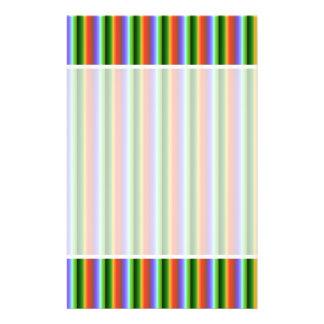 Rainbow Stripes. Fun Multi-color Pattern. Flyer Design