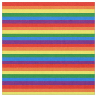 Rainbow Stripes Gay Pride LGBT Support Fabric