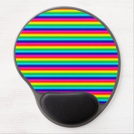 Rainbow Stripes Gel Mouse Pads