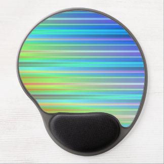 Rainbow Stripes Gel Mousepad
