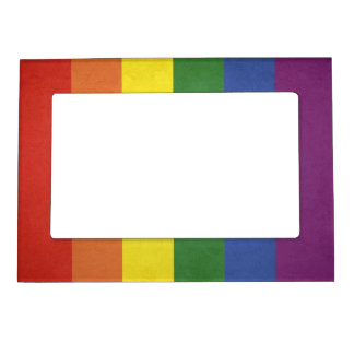 Rainbow stripes magnetic frame