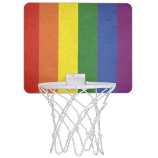 Rainbow stripes mini basketball hoop