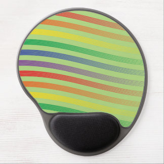 RAINBOW STRIPES MINT MOUSE PAD GEL MOUSE PAD