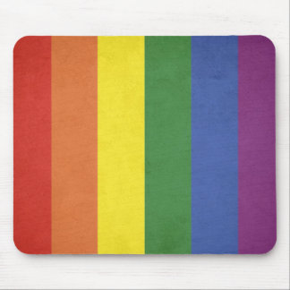 Rainbow stripes mouse pad