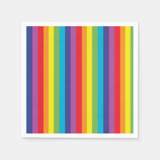 Rainbow Stripes Napkins Paper Napkins