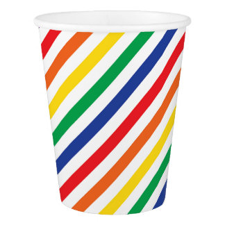Rainbow Stripes Paper Cup