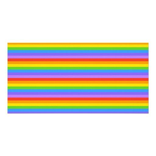 Rainbow Stripes Pattern. Photo Cards