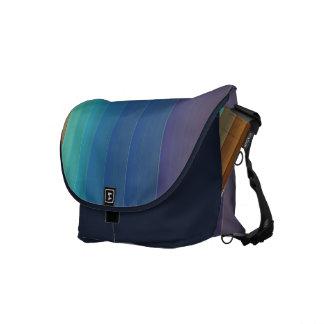 Rainbow Stripes Rickshaw Messenger Bag