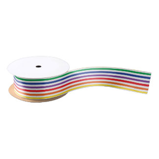 Rainbow Stripes Satin Ribbon
