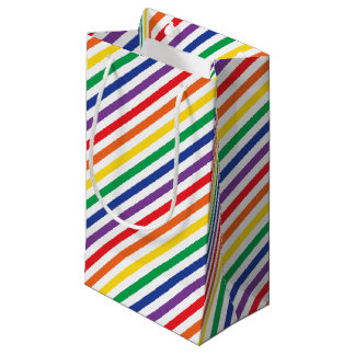 Rainbow Stripes Small Gift Bag