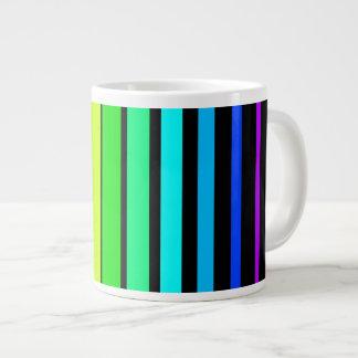 Rainbow Stripes Jumbo Mug