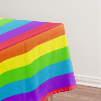 Rainbow Stripes Table Cloth