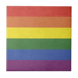 Rainbow stripes tile