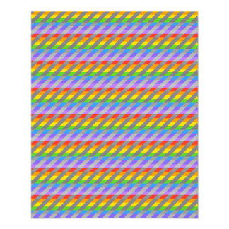 Rainbow Stripes with Gray. Full Color Flyer
