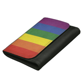 Rainbow stripes women's wallets