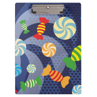 Rainbow Sugar Crush - Colorful Candies for Kids Clipboard