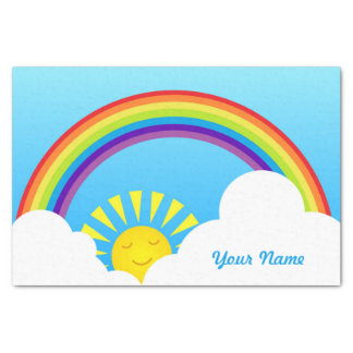 Rainbow sun and clouds tissue paper