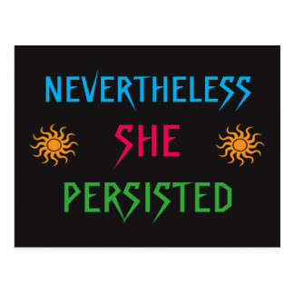 Rainbow Sun Nevertheless She Persisted Postcard