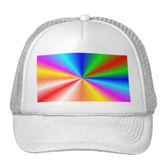 """Rainbow """"sunburst"""" background cap"""