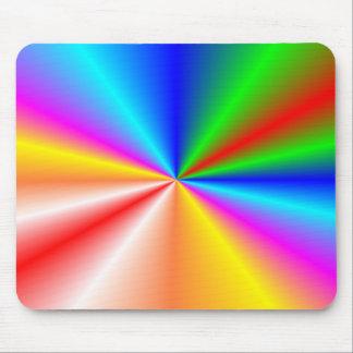 """Rainbow """"sunburst"""" background mousepad"""