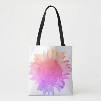 Rainbow Sunflower Tote Bag